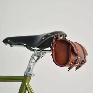 SE ic | handmade leather bicycle cushion package | magnetic buckle