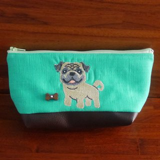 Pago custom embroidery pencil bag bag 10 color (free embroidered English name please note)