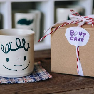 Brut Cake Hand Made Pottery - Smile Mug 240ml-1