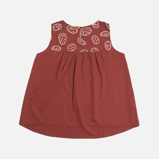 Short and long wrinkle vest before time printing - temperament wine red