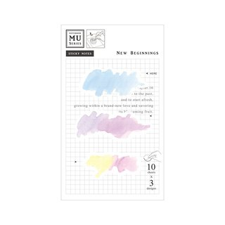 [MU watercolor translucent sticky note] Chap.16 from scratch | Stacking and collage decoration point account