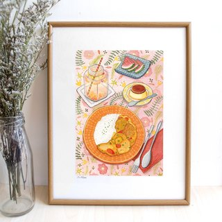 Curry Rice- illustration print