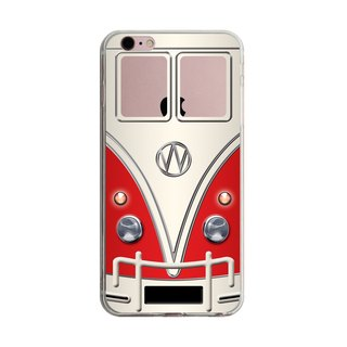 Custom red retro minibus transparent Samsung S5 S6 S7 note4 note5 iPhone 5 5s 6 6s 6 plus 7 7 plus ASUS HTC m9 Sony LG g4 g5 v10 phone shell mobile phone sets phone shell phonecase