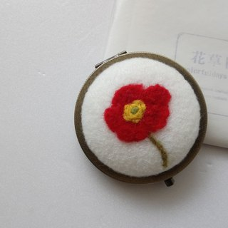 Poppy wool mirror [Valentine's Day / Birthday Gift]