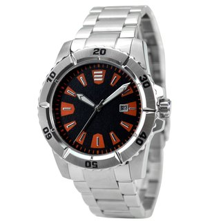 Diver Watch with solid metal band - Free shipping