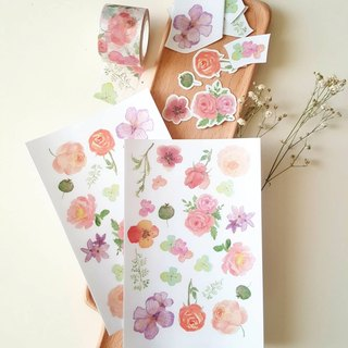 Flower Roll DIY Hand Scrapbook