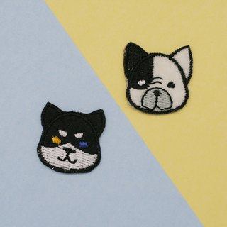 Siberian&French Bulldog Set Iron Patch (set of 2)
