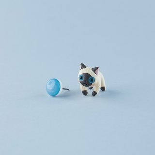 Ragdoll Cat - Polymer Clay Earrings, Handmade&Handpaited Catlover Gift