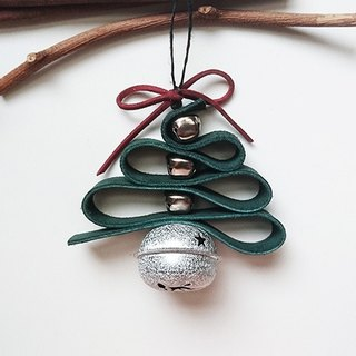 Leather Christmas Bell Hanging (Silver)