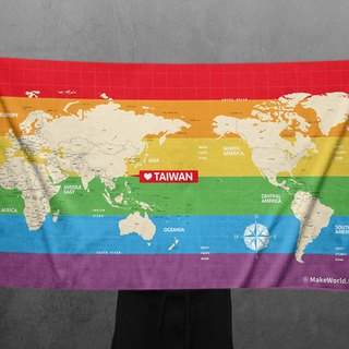 Make World Map Manufacture of Sports Bath Towels (Rainbow Edition)