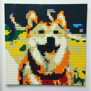 Pet portrait 40cm*40cm Custom-made DIY lego-like brick mosaic