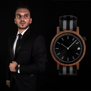 PRIME 1.1.1 Walnut Wood Wooden Watch - Black Ops 42mm