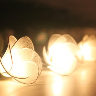 20 Handmade White Flower String Lights for Home Decoration Wedding Party Bedroom Patio and Decoration