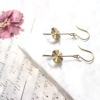Flower season - brass handmade earrings