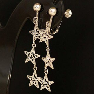 Triassic star arabesque earrings 【Free Shipping】 Silver Silver Star Arabesque Tribal