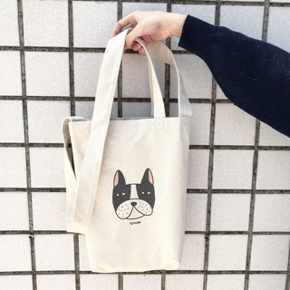 Circular Face Man - Bulldog Bulldog/Handbags