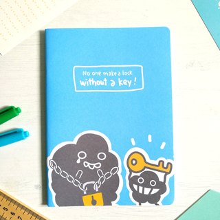 Dustykid A5 Blue Notepad