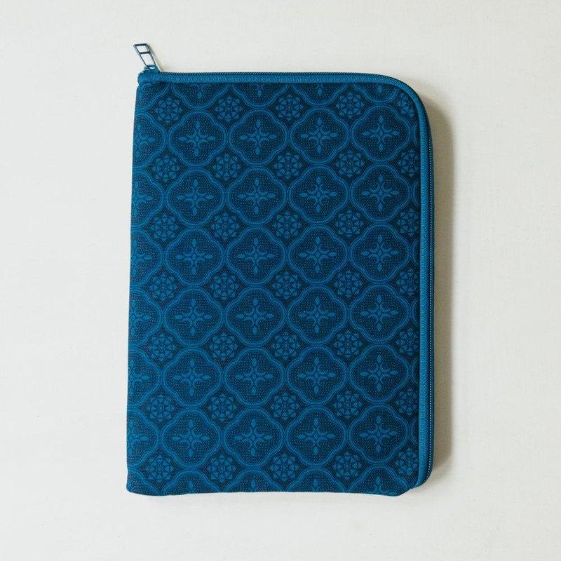 10.5吋 iPad收納包/玻璃海棠/宅邸深藍
