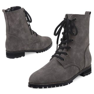 SPUR Zipper accent work boots HF7099 GREY