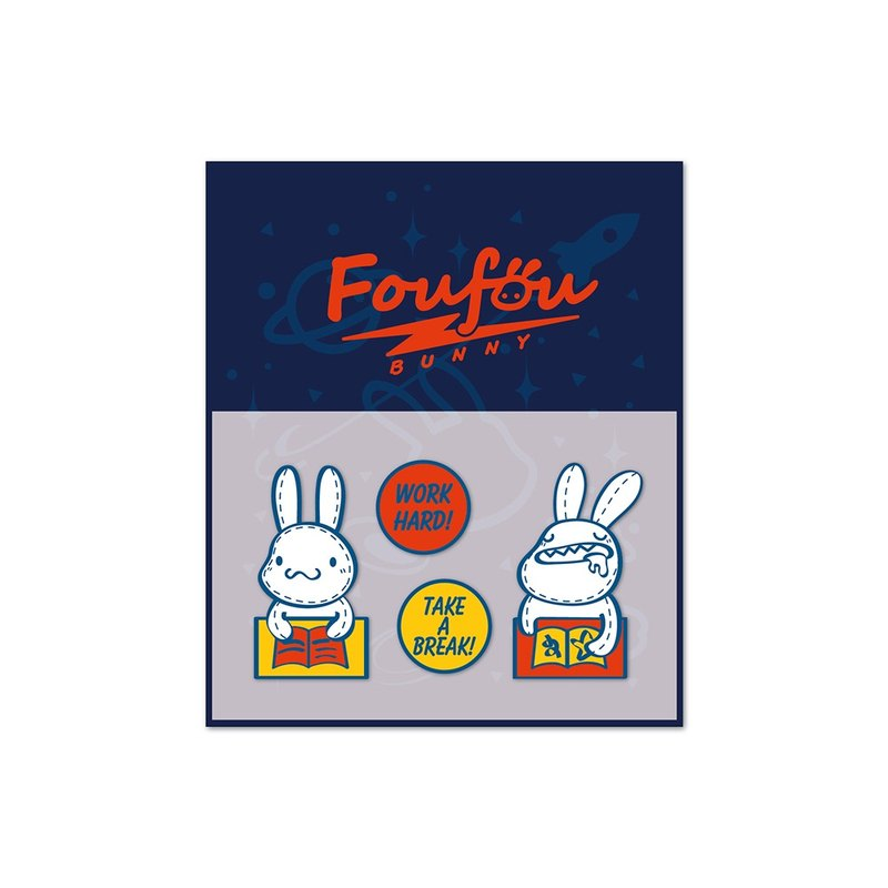 Foufou-dry transfer sticker - work
