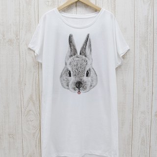 ronronRABIT One piece Tee Beh (White) / RPT 045 - WH
