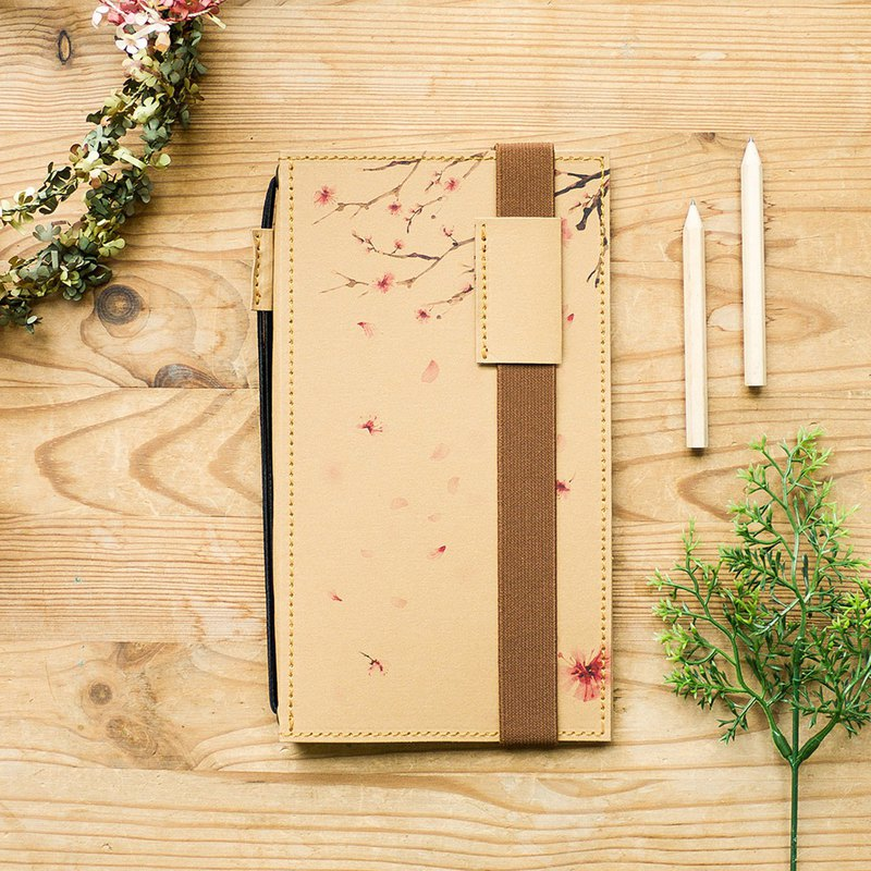Walking Notebook。Weekly Planner - Caramel (Cherry Blossom)