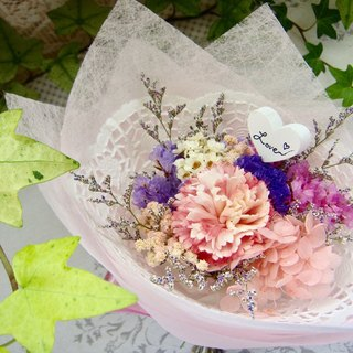 Masako Dedicated Mummy Mother's Day Eternal Flower Carnation Small Bouquet Warmth Powder Passion Blush Period Limited