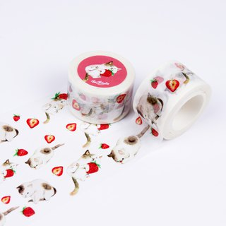 Fruit Cat Strawberry Strawberry Tape 2.5cm