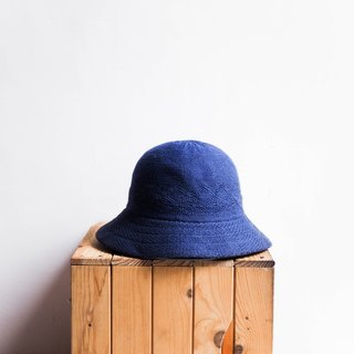 River Hill - Wakayama indigo Sentimental Love Letters antique plain knit hat lady picture hat / cloche hat retro ladies