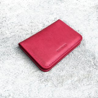 [SIMPLICITY] NameCard Holder / Simple Business Card Holder / Camellia Red