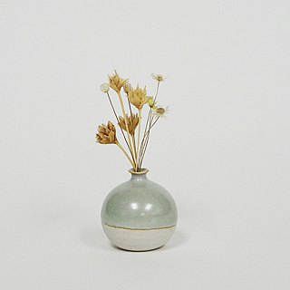 Handmade Ceramic Mini Vase - Light Sea Green