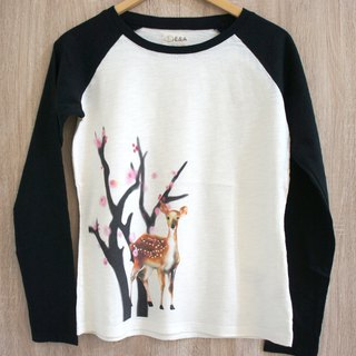 Taiwan Sika Deer (Plum Blossom Doe) Long Sleeve Long Sleeve Tee (Girls)