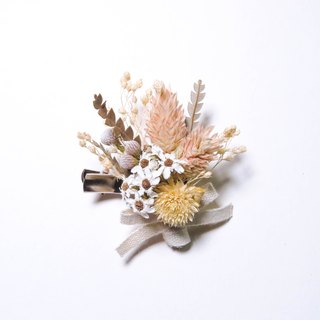 Her Bouquet commemorate this year | dried flowers dried flower hairpin French white silver badge Meishan Mao Jian Canary