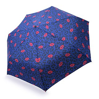 Safety Auto Open Close Umbrella - Leopard & Lips