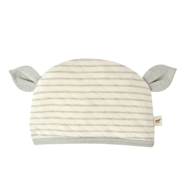 [SISSO organic cotton] deer gray rice double weaving baby hat