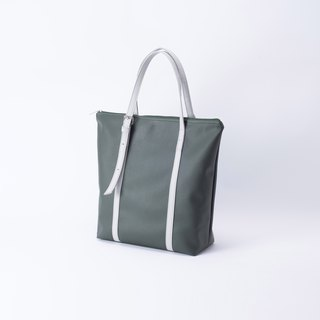 New product A4 dual-use tote bag green X gray