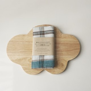 Cloud Chopping Board + Linen Kitchen Cloth (green) Gift