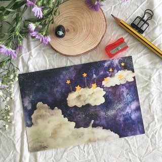 """Starry Night"" series - ""temperature"" postcard"
