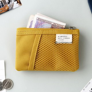 Livework leisure double double fold ticket card coin purse V2- mustard yellow, LWK56214