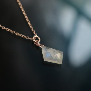KAKERA- moon rose gold necklace crystal fragments solitary * *