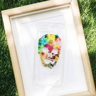 骷髏頭订制 • Handpressed Real Dried Flower Phone Case
