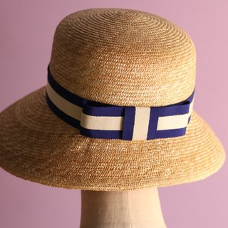 Wide Brimmed Straw Hat Nautical Cecil