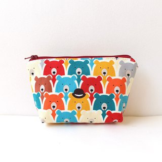 Queuing bear storage bag / sundries bag purse hygiene cotton bag