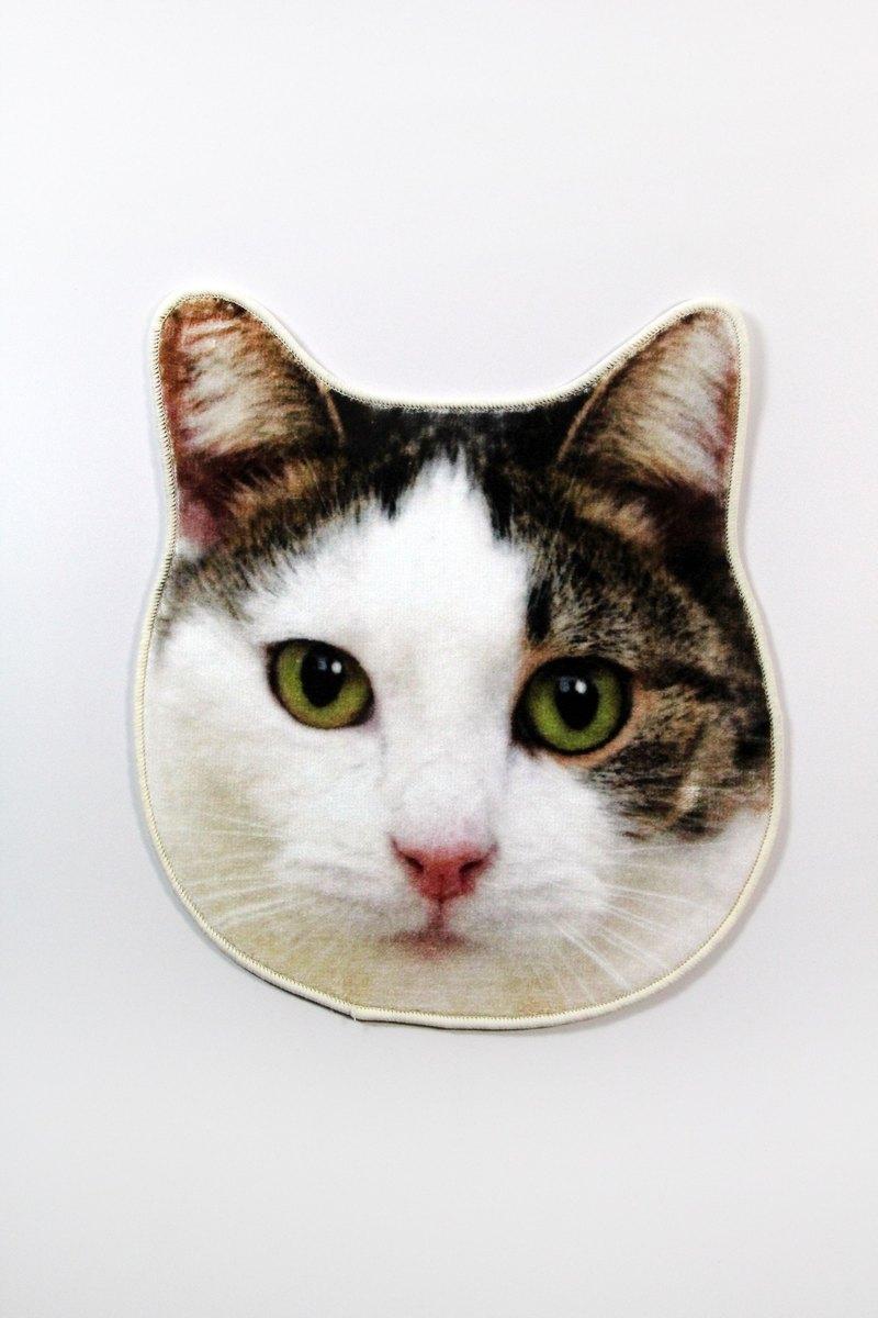 SUSS-日本Magnets 仿真可愛動物手帕/口水巾/毛巾(愛琴海貓) 現貨