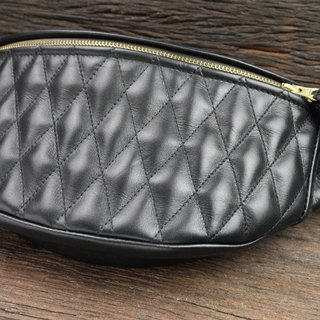 Full leather pockets - Diamond lattice