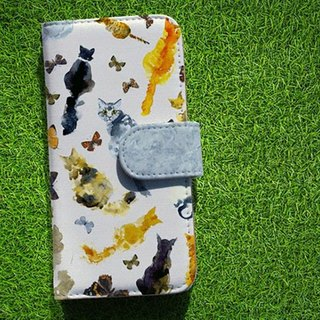 【All models supported】 Free shipping 【notebook type】 smart case on the back of the cat