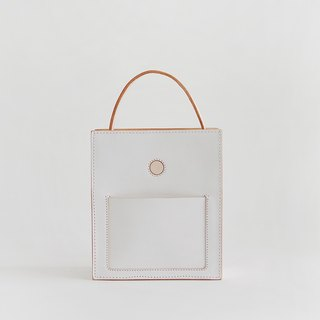 JOYDIVISION white vegetable tanned leather double-sided hand-portable Diana package 2017 new female bag handbag