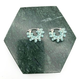 Amazonite 925 Silver Earrings 【Natural Stones】 【White Earrings】 【Gift】