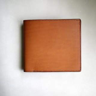 Tsubame - bespoke custom fourty-thousand yellow-brown vegetable-tanned leather slim short clip