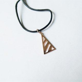 Triangle・Necklace Plating Sterling Silver【SZN1745】